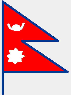 how to draw nepal flag