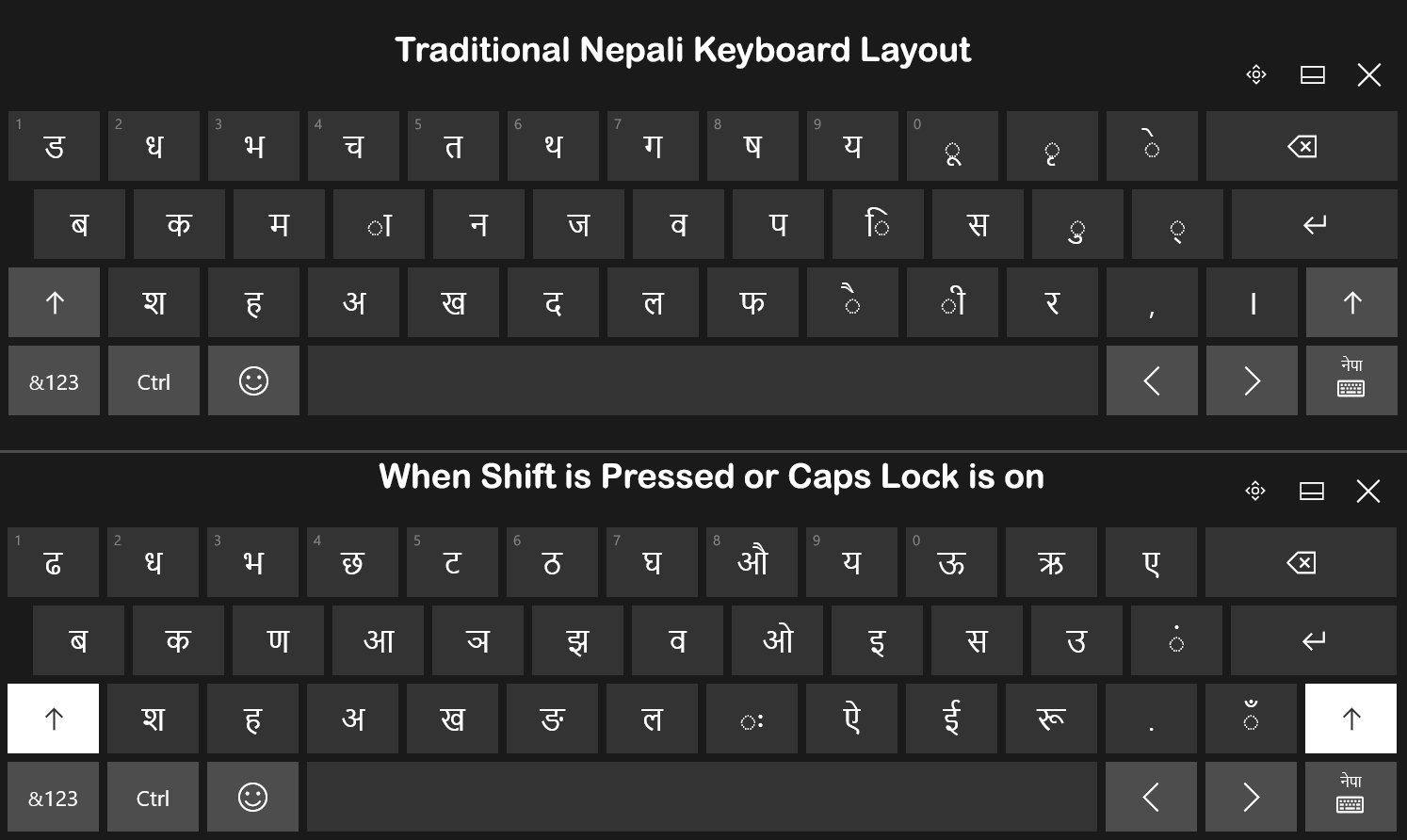 How to type in nepali in windows 10 even when offline for Window keyboard